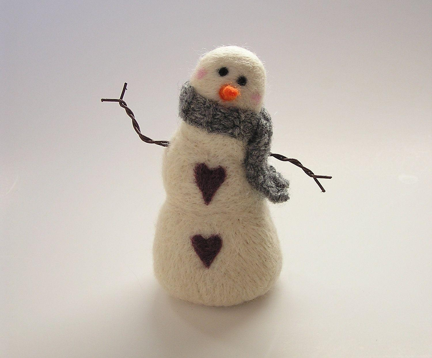 Needle Felted Snowman Tuesday February 4, 5 to 7pm