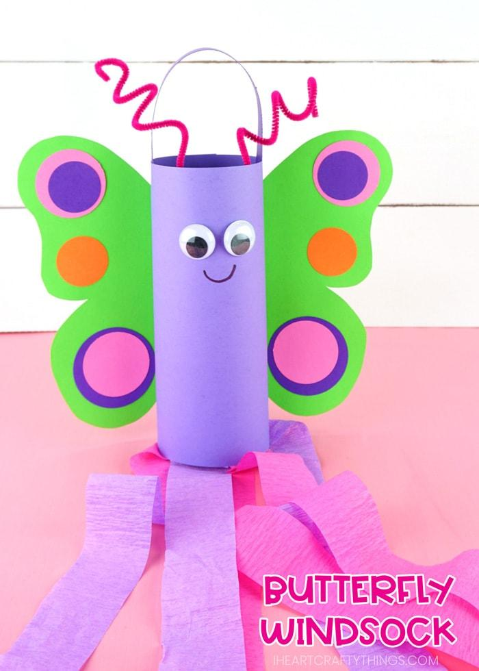 Butterfly Windsock Craft For Kids