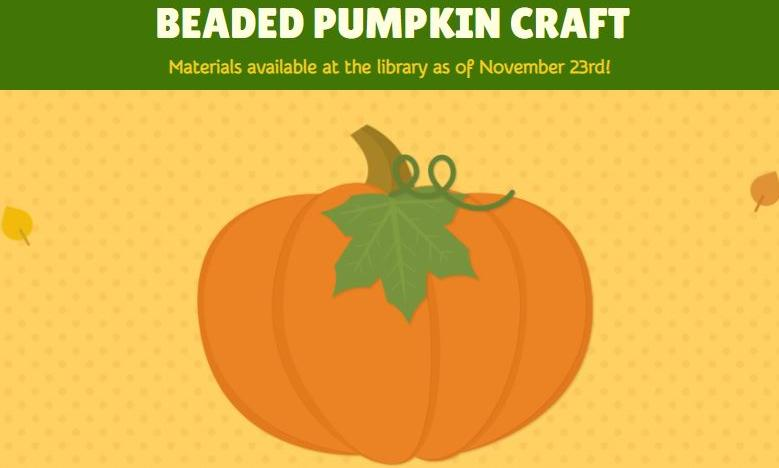 Beaded Pumpkin Craft