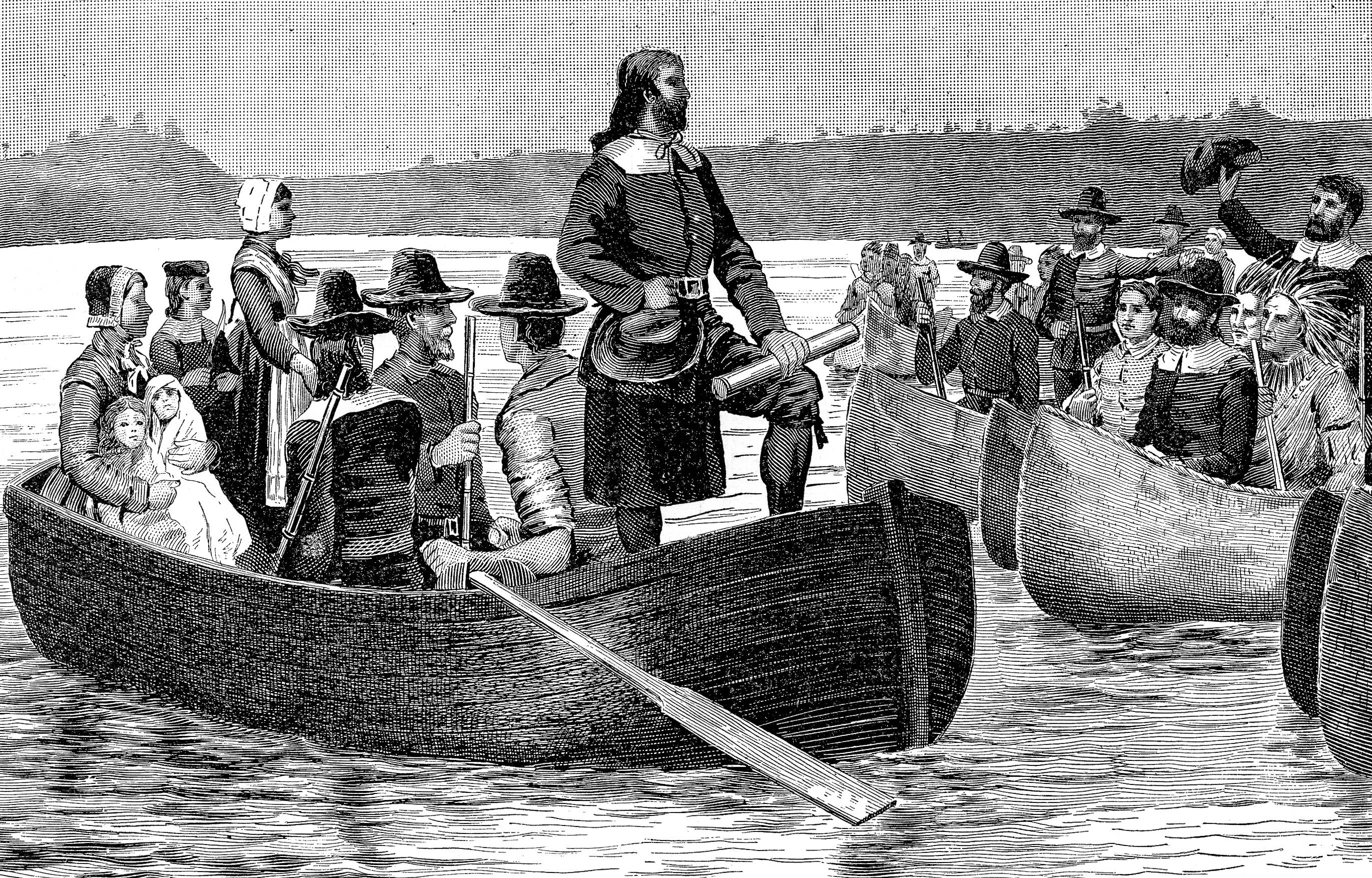 Roger Williams returns to Rhode Island with Charter from England.