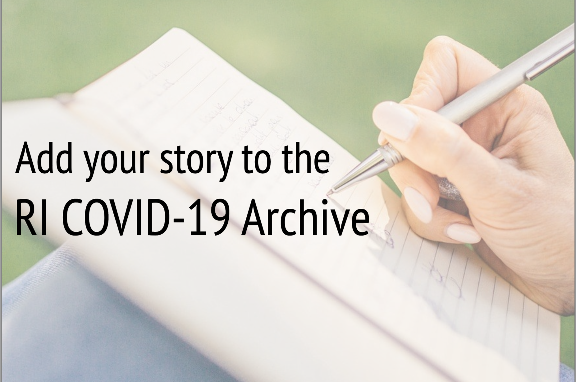 Add your story to the RI COVID-19 Archive